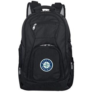 Denco Sports Mojo Seattle Mariners Premium Black Nylon 19-inch Laptop Backpack