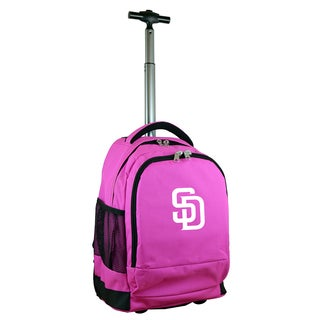 Denco Sports Mojo San Diego Padres Premium Pink Wheeled Backpack