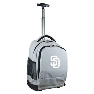 Denco Sports Mojo San Diego Padres Grey Premium Wheeled Backpack