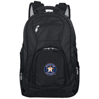 Denco Sports Mojo Houston Astros Premium Black Nylon and Denim 19-inch Laptop Backpack