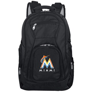 Denco Sports Mojo Miami Marlins Premium Black Ballistic Nylon 19-inch Laptop Backpack
