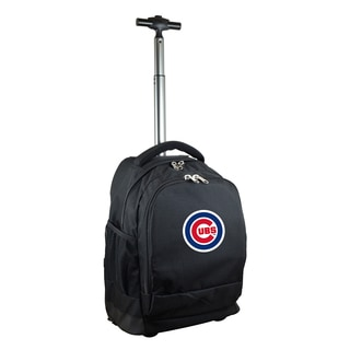 Denco Sports Mojo Chicago Cubs Premium Black Nylon Wheeled Backpack