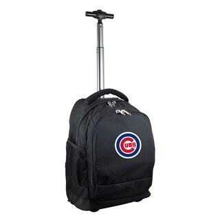 Denco Sports Mojo Chicago Cubs Premium Black Nylon Wheeled Backpack