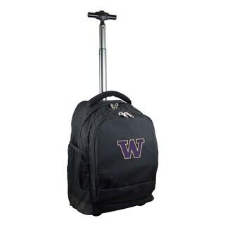 Denco Sports Mojo Washington Black Nylon and Denim Premium Wheeled Backpack