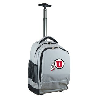 Denco Sports Mojo Utah Grey Polyester Premium Wheeled Backpack