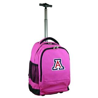 Denco Sports Mojo Arizona Pink Nylon and Denim Premium Wheeled Backpack