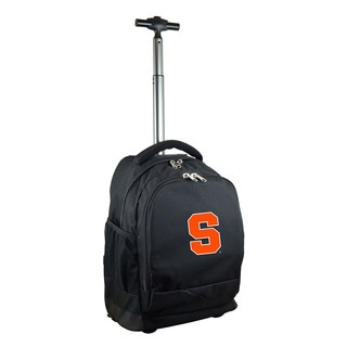 Denco Sports Mojo Syracuse Premium Black Nylon Wheeled Backpack