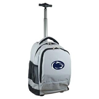 Denco Sports Mojo Penn State Premium Grey Nylon Wheeled Backpack