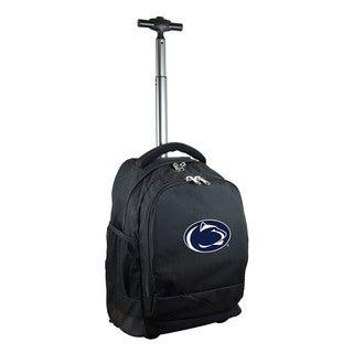 Denco Sports Mojo Penn State Premium Black Nylon Wheeled Backpack