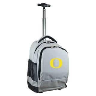 Denco Sports Mojo Oregon Grey Nylon Wheeled Backpack