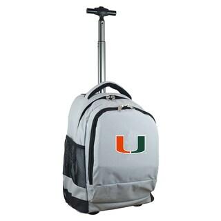 Denco Sports Mojo Miami Premium Grey Wheeled Backpack