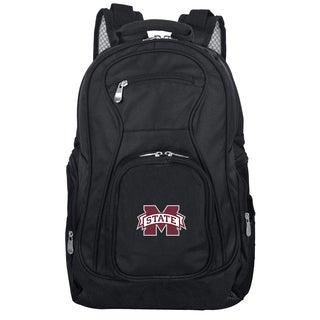 Denco Sports Mojo 'Mississippi State' Black Nylon and Denim 19-inch Premium Laptop Backpack