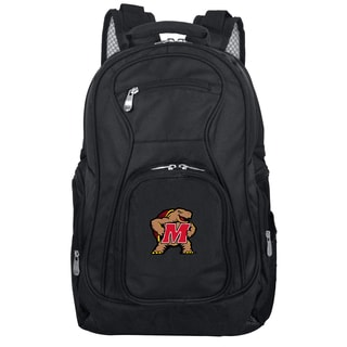 Denco Sports Mojo Maryland Terrapins Black Nylon/Denim Premium 19-inch Laptop Backpack