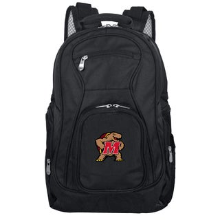 Denco Sports Mojo Maryland Terrapins Black Nylon/Denim Premium 19-inch Laptop Backpack