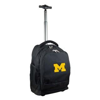 Denco Sports Mojo Michigan Black Premium Wheeled Backpack