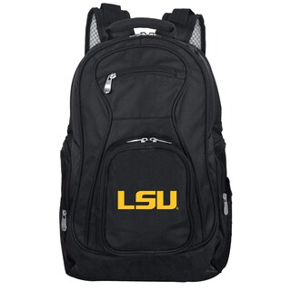 Denco Sports Mojo LSU Premium Black Nylon 19-inch Laptop Backpack