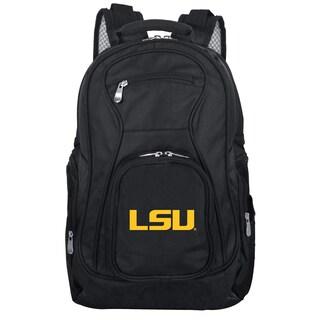 Denco Sports Mojo LSU Premium Black Nylon 19-inch Laptop Backpack