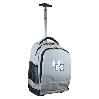 Denco Sports Mojo Kentucky Premium Grey ballistic Nylon 17-inch Wheeled Laptop Backpack
