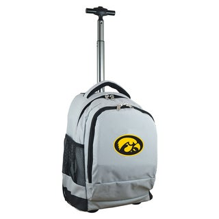 Denco Sports Mojo Iowa Premium Grey Ballistic Nylon 17-inch Wheeled Laptop Backpack