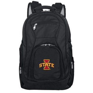 Denco Sports Mojo Iowa State Premium Black Nylon and Denim 19-inch Laptop Backpack