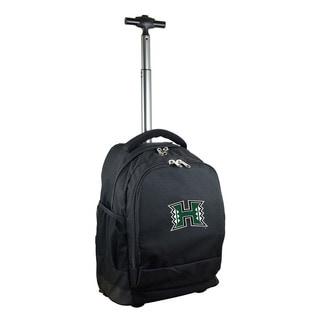 Denco Sports Mojo Hawaii Premium Black Ballistic Nylon 17-inch Wheeled Laptop Backpack