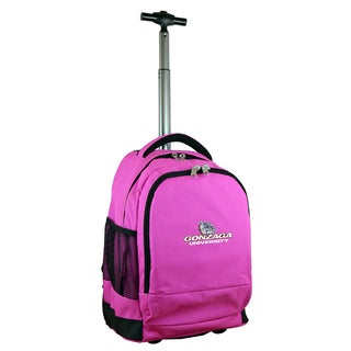 Denco Sports Mojo Gonzaga Pink Ballistic Nylon and Denim Premium Wheeled Backpack