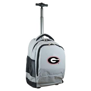 Denco Sports Mojo Georgia Premium Grey Ballistic Nylon Wheeled Laptop Backpack