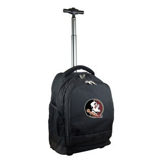 Denco Sports Mojo Florida State Black Premium Wheeled Backpack