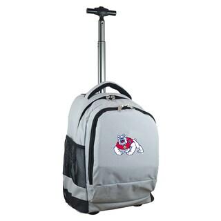 Denco Sports Mojo Fresno State Grey Nylon Wheeled Backpack