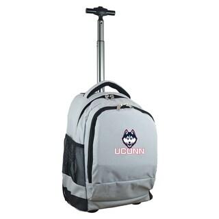 Denco Sports Mojo Connecticut Grey Nylon Wheeled Backpack