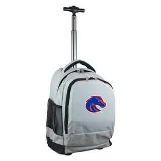 Denco Sports Mojo Boise State Premium Grey Nylon Wheeled Backpack