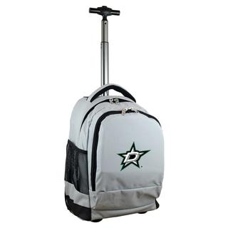 Denco Sports Mojo Dallas Stars Grey Nylon and Denim Wheeled Backpack