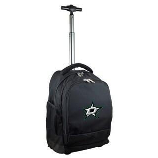 Denco Sports Mojo Dallas Stars Premium Black Ballistic Nylon 17-inch Wheeled Laptop Backpack