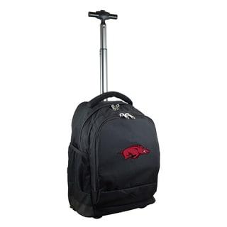 Denco Sports Mojo Arkansas Razorbacks Black Premium Wheeled Backpack