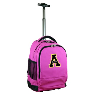 Denco Sports Mojo Appalachian State Premium Pink Ballistic Nylon 17-inch Wheeled Laptop Backpack
