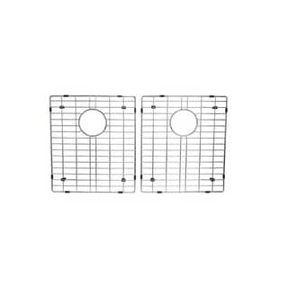 Starstar Stainless Steel 17-inch x 14-inch 50/50 Double Bowl Kitchen Sink Bottom Grids (Set of 2)