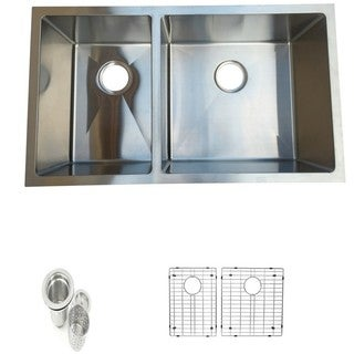 Starstar Stainless Steel 40/60 Undermount Double Bowl Kitchen Sink Assembly