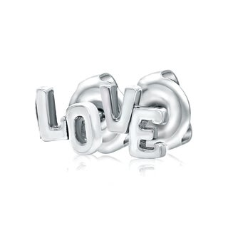 Boma by Pearlyta 'Love' White Sterling Silver Stud Earrings