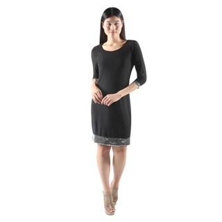 Hadari Womens Casual Sexy Party BlackBodyconMini Dress