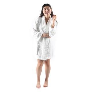 Hadari Women's White Valentine Night Plush Robe