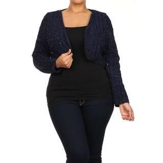Women's Plus Size TrendyShort Sleeve CrochetOpen Front Shrug Cardigan|https://ak1.ostkcdn.com/images/products/13248892/P19963162.jpg?impolicy=medium