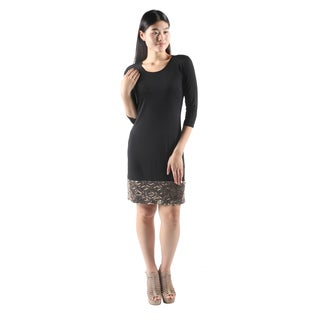 Hadari Womens CasualShort Sexy Bodycon BlackDress