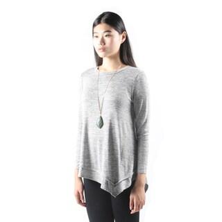 Hadari Womens Fashion Long SleeveLooseGrey Tee Tank Top Shirt