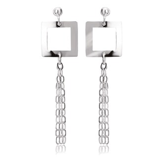 Avanti Sterling Silver Geometric Tassel Earrings
