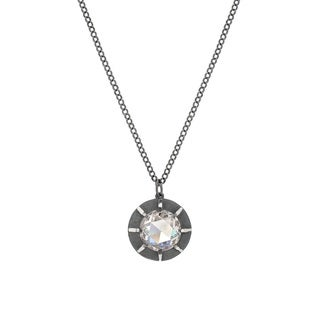 Victorian Style Sterling Silver Euro-cut Cubic Zirconia Pendant by Gerald David Bauman (3 options available)