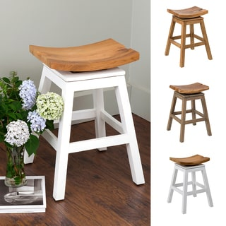 East At Main's Lennox Teakwood Counter Stool