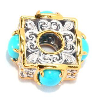 Michael Valitutti Palladium Silver Sleeping Beauty Turquoise Charm