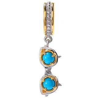 Michael Valitutti Palladium Silver Sleeping Beauty Turquoise Sunglasses Charm