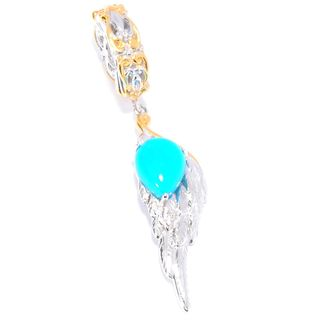Michael Valitutti Palladium Silver Sleeping Beauty Turquoise Wing Charm