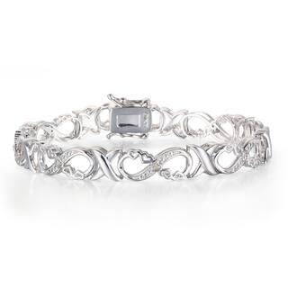 1/10 Carat Diamond XO Infinity Bracelet In Platinum Over Brass https://ak1.ostkcdn.com/images/products/13250509/P19964396.jpg?impolicy=medium